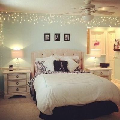 Fun ways to decorate with hang lights in the bedroom - Cool ways to decorate your room ...