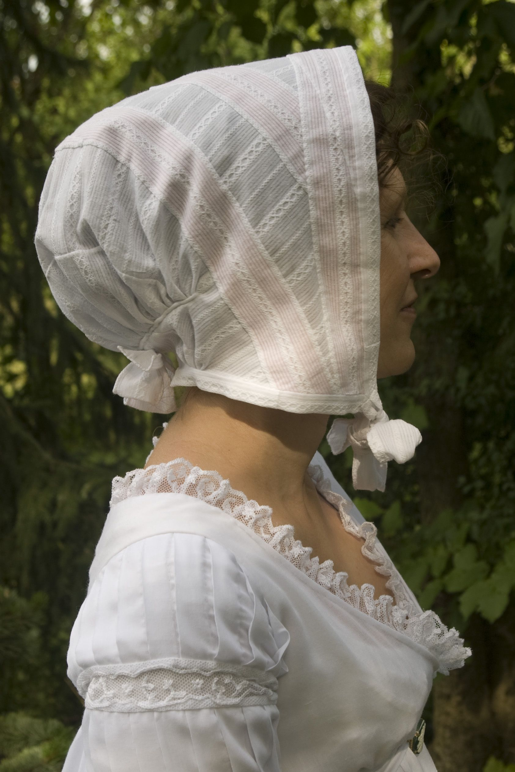 A Regency Dimity Cap Made According To The Dimity Cap Early 19th