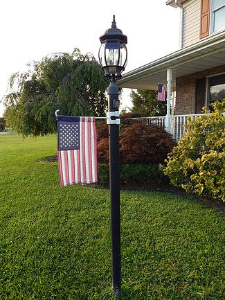 How To Put A Flag On A Lamp Post Or Mailbox The Easy Way Lamp Post Outdoor Decor Mailbox