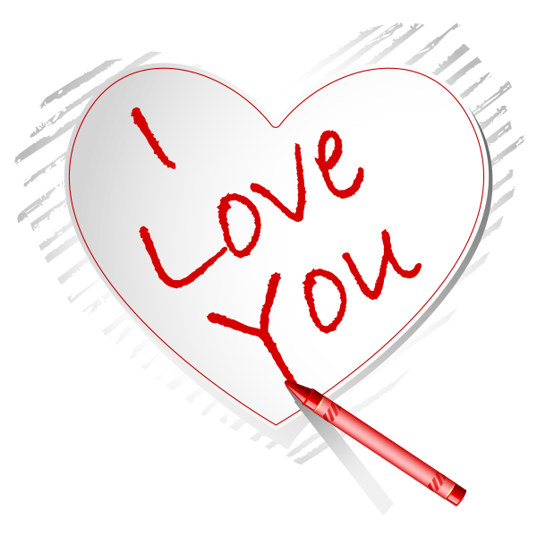 i love you in crayon | crayons, symbols emoticons and timeline