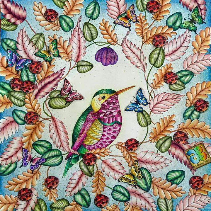 Johanna Basford's Secret Garden & Enchanted Forest Bird
