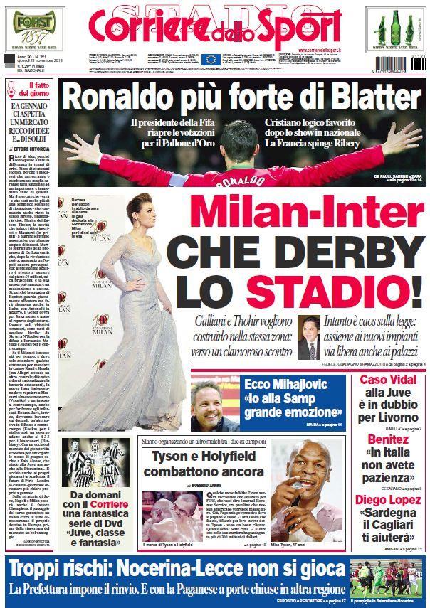 Il Corriere dello Sport (211113) Ronaldo, Derby, Sport