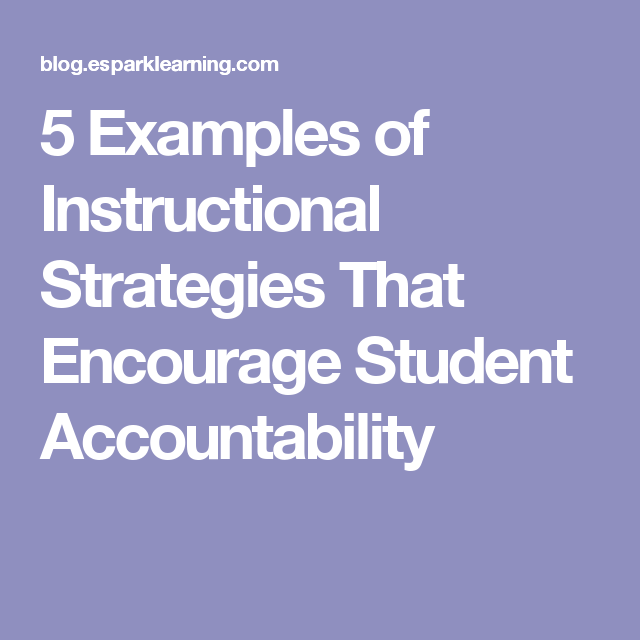 5 Examples Of Instructional Strategies That Encourage Student