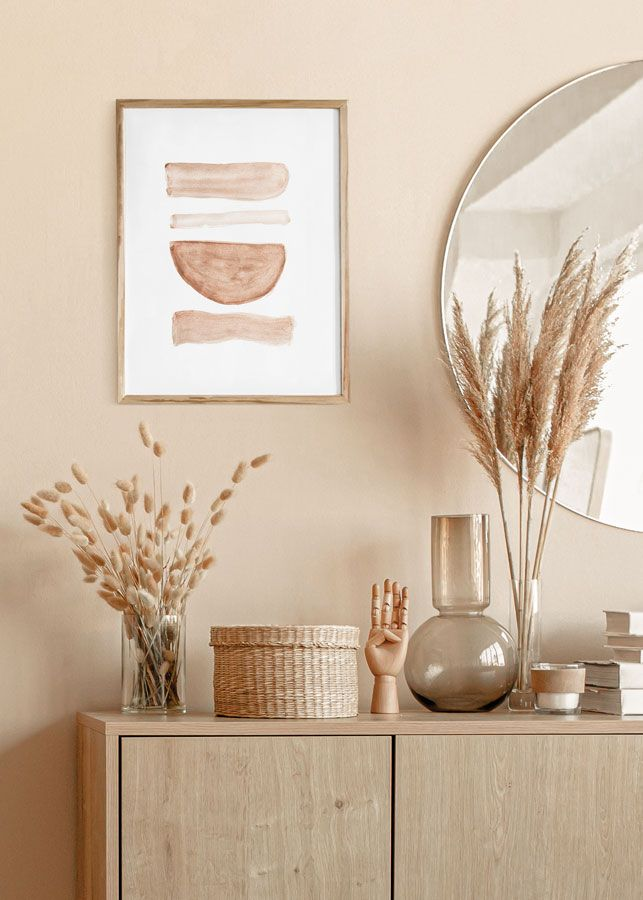 Earthy Brown Abstract Watercolour Art Print