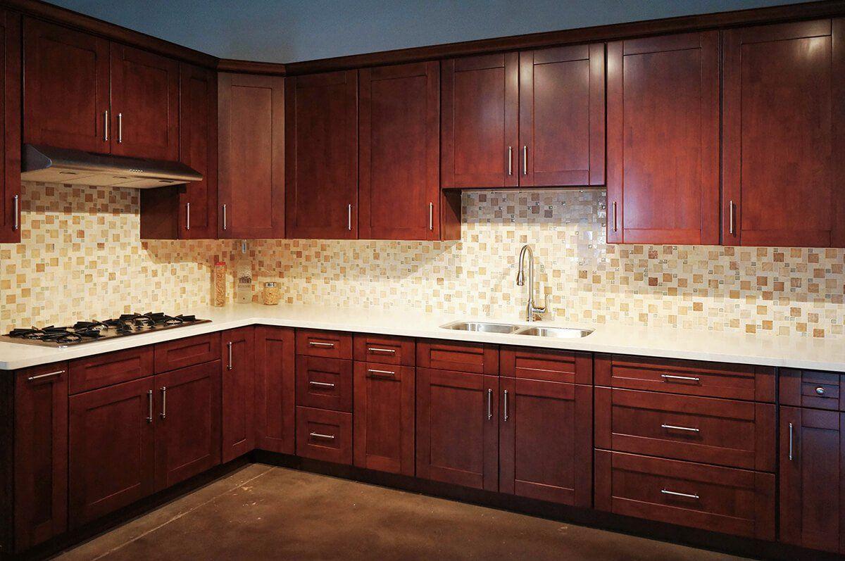 Mahogany Shaker Rta Cabinets Cabinet City Kitchen And Bath Kitchen Design Small Kitchen Design Trends Kitchen Design