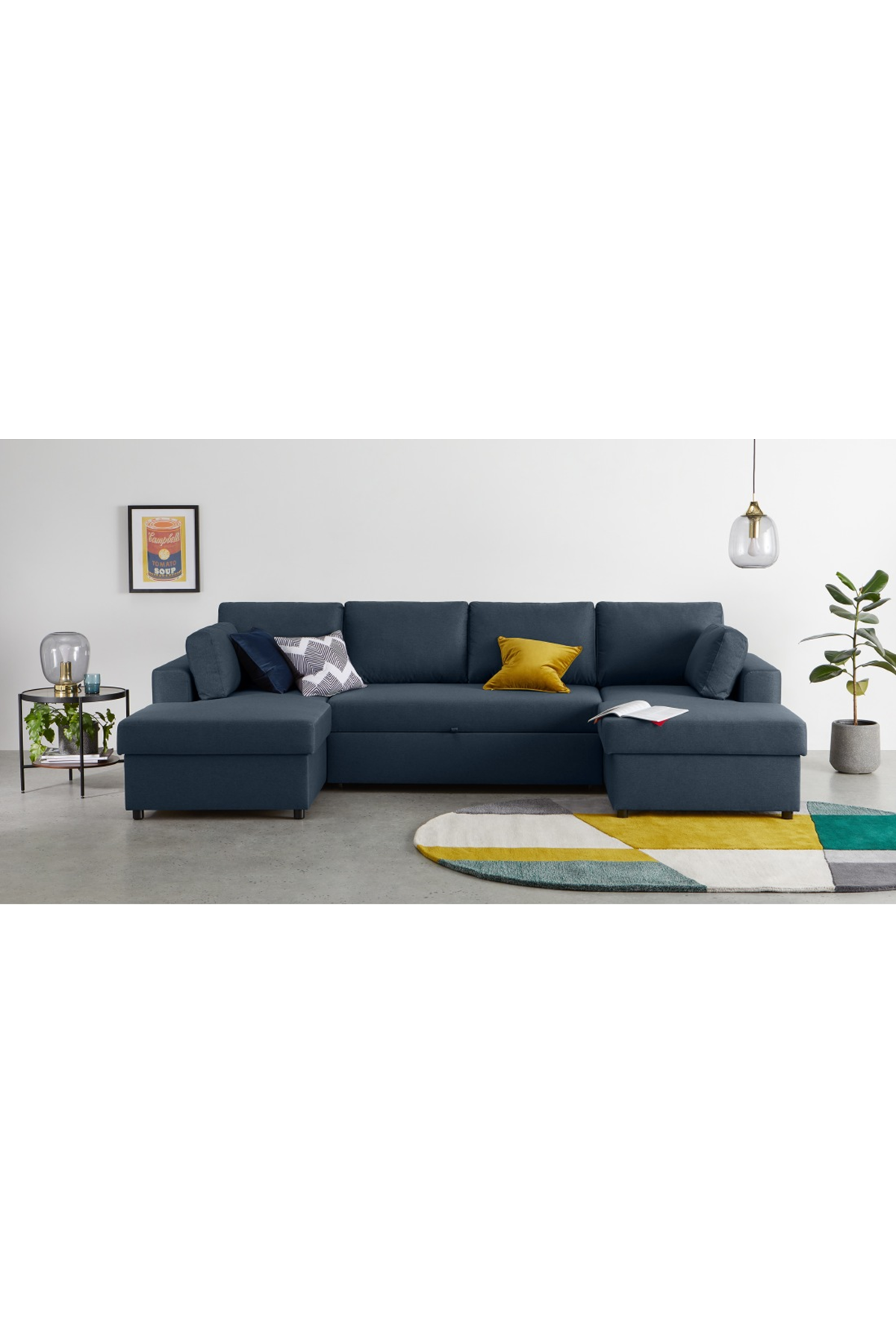 Aidian Large Corner Sofa Bed With Storage Regal Blue Corner Sofa Bed With Storage Sofa Bed With Storage Corner Sofa