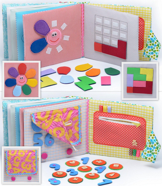 Personalized Quiet Book Montessori Felt Busy Book Toddler