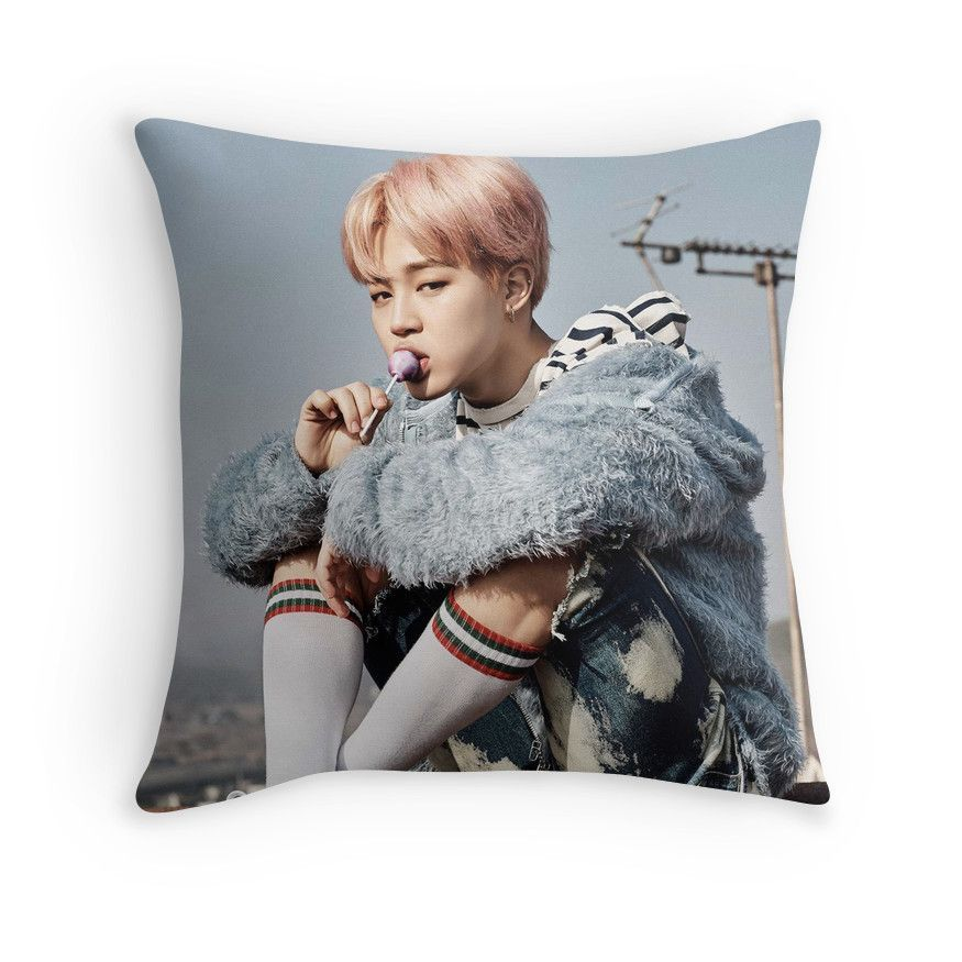 'BTS YNWA Jimin' Throw Pillow by yeongwonhikpop