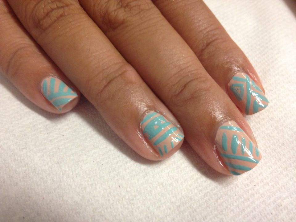 Perfectly Polished Princess: Two-Tone Easy Tribal Nail Art | DIY ...