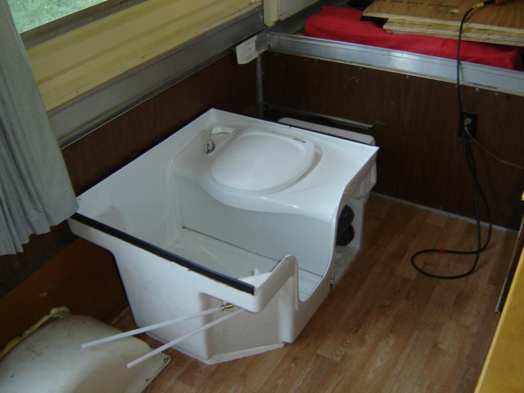 Starting Point For Thetford Shoilet Install Camper Bathroom Toilet Shower Combo Folding Campers