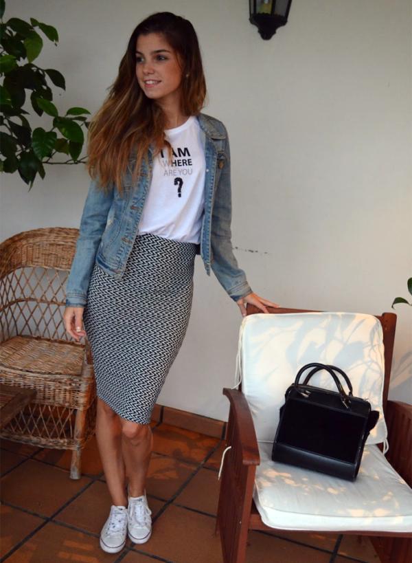 16 Looks con falda y converse para días casuales