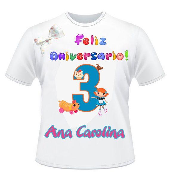 Promoção imperdível  Camiseta Personalizada Lalaloopsy Tamanho infantil   2 983bccab8758a