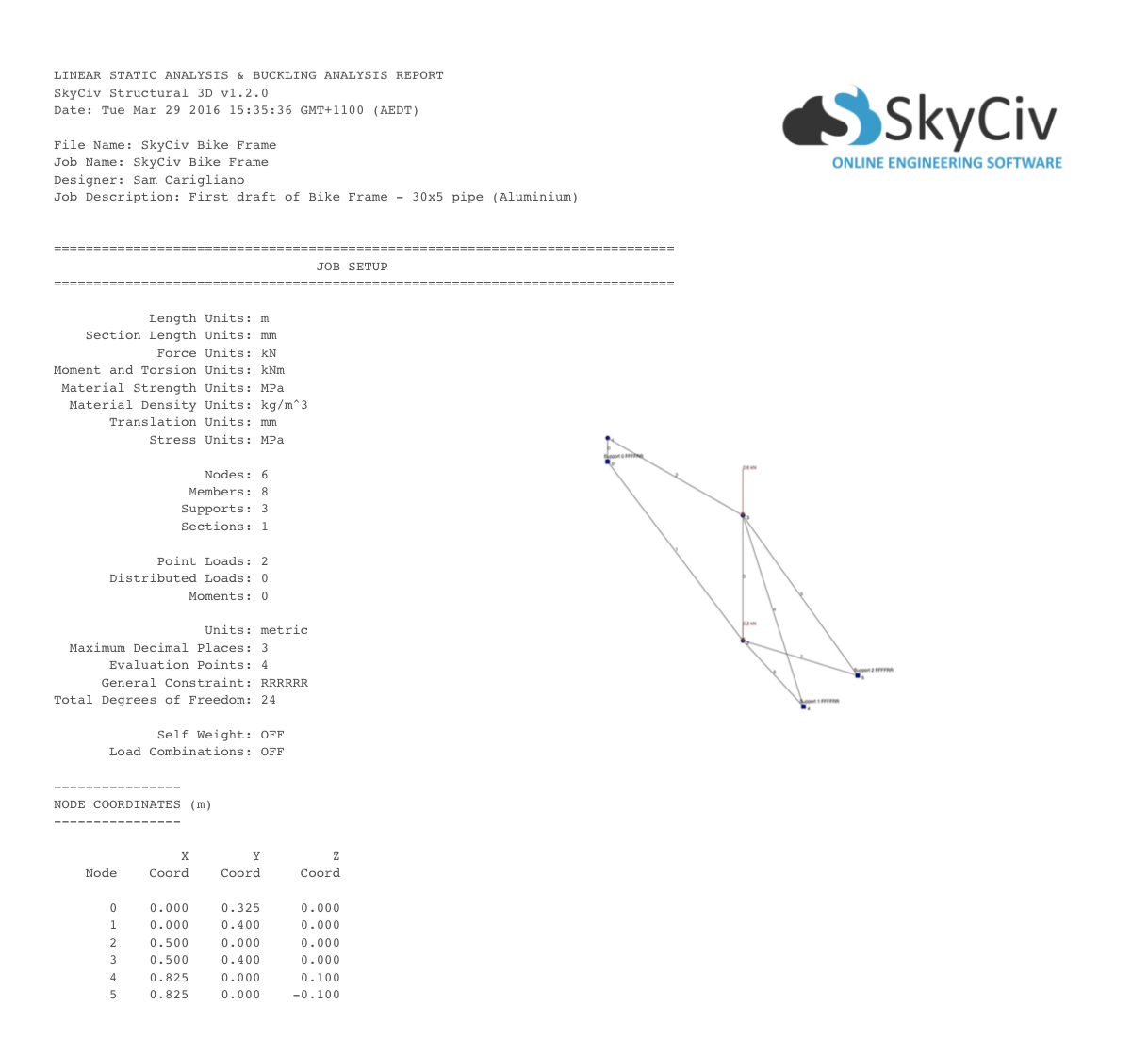 Free online truss calculator skyciv cloud engineering software calculator pooptronica Gallery