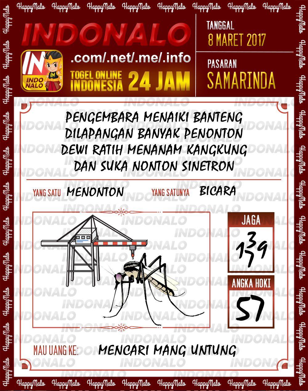 Angka Hoki 4D Togel Wap Online Indonalo Samarinda 8 Maret