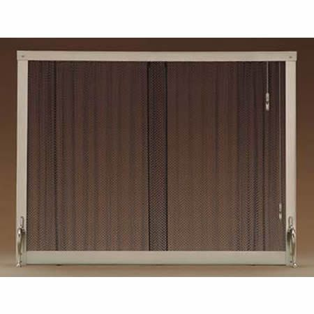 4391 Pull Chain Standing Curtain Fireplace Screen 38 X 30
