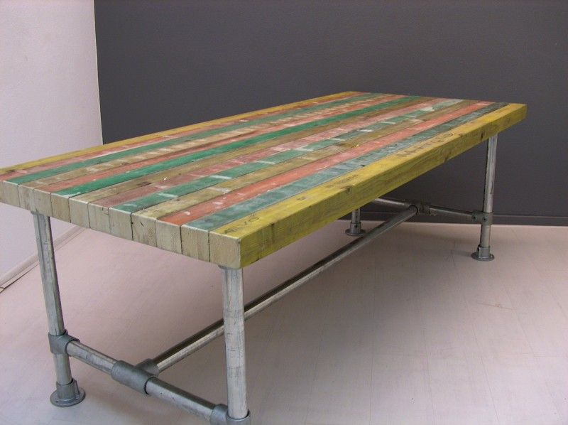 Steigerbuis Tafel Onderstel : Diverse tafels henk made