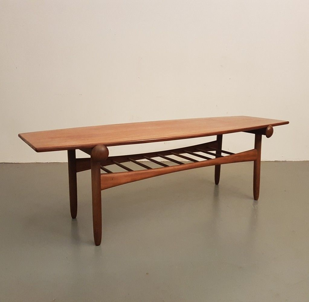 Mid Century Danish Design Teak Reversible Coffee Table