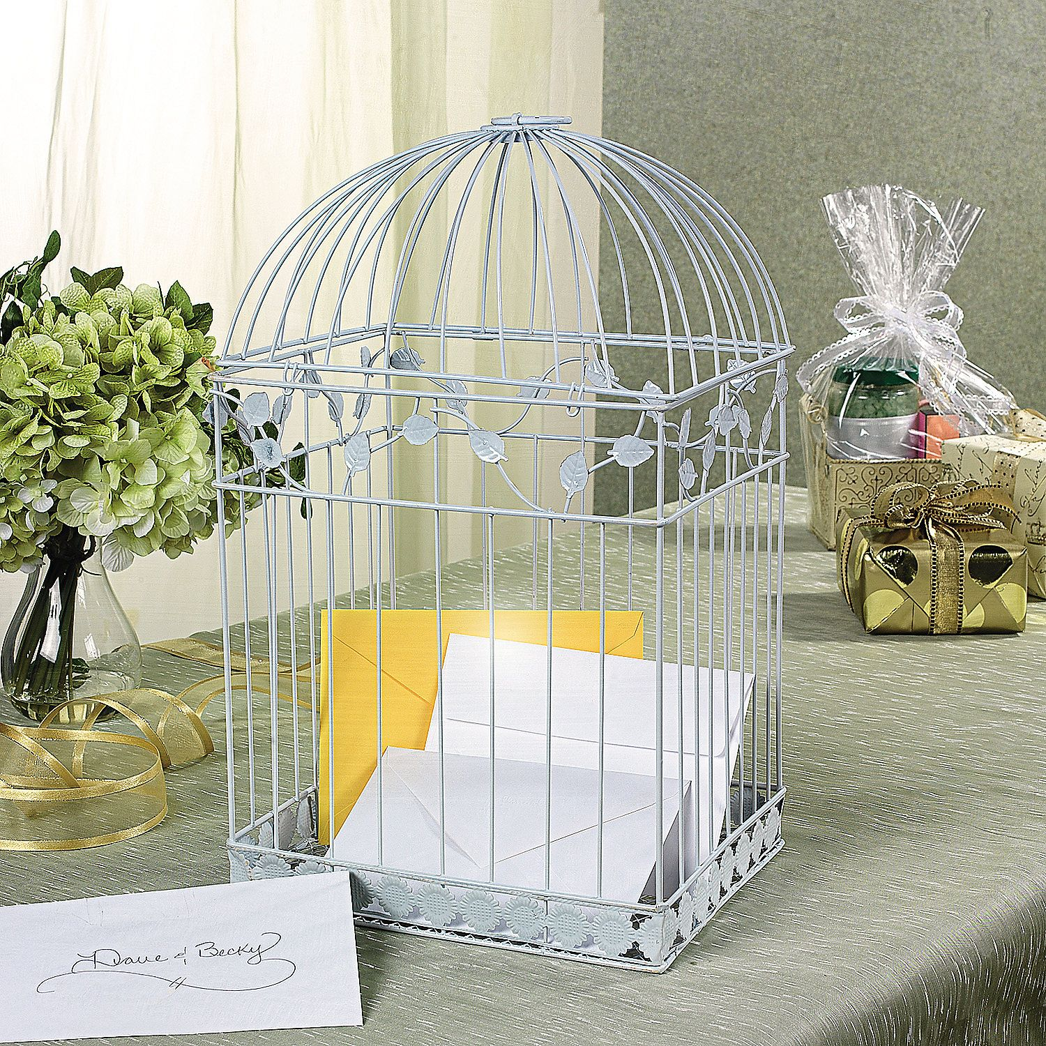 White Birdcage Card Holder Birdcage Card Holders Wedding And Weddings