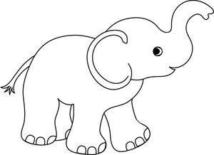 Elefant Elefant Zeichnung Baby Elefant Zeichnung Elefanten Umriss