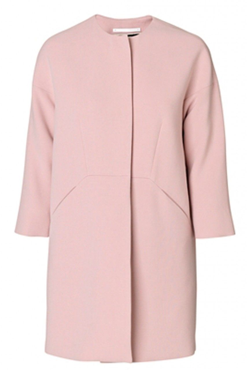 Nirea collarless pink spring coat | Wedding Guest Attire ...