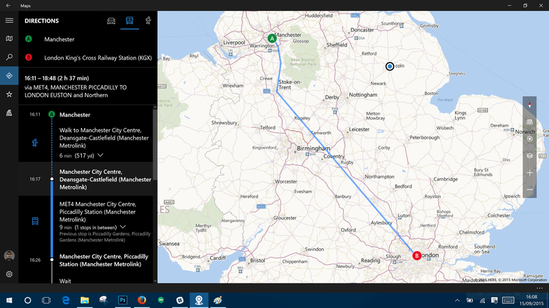 Get your public transport directions with Maps on Windows 10