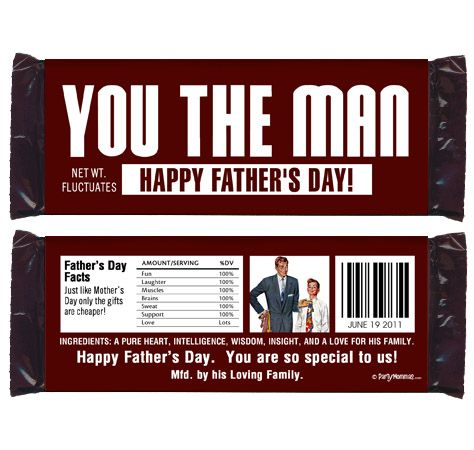 Father's Day Candy Bar Wrapper Printables | Candy bar wrappers and ...