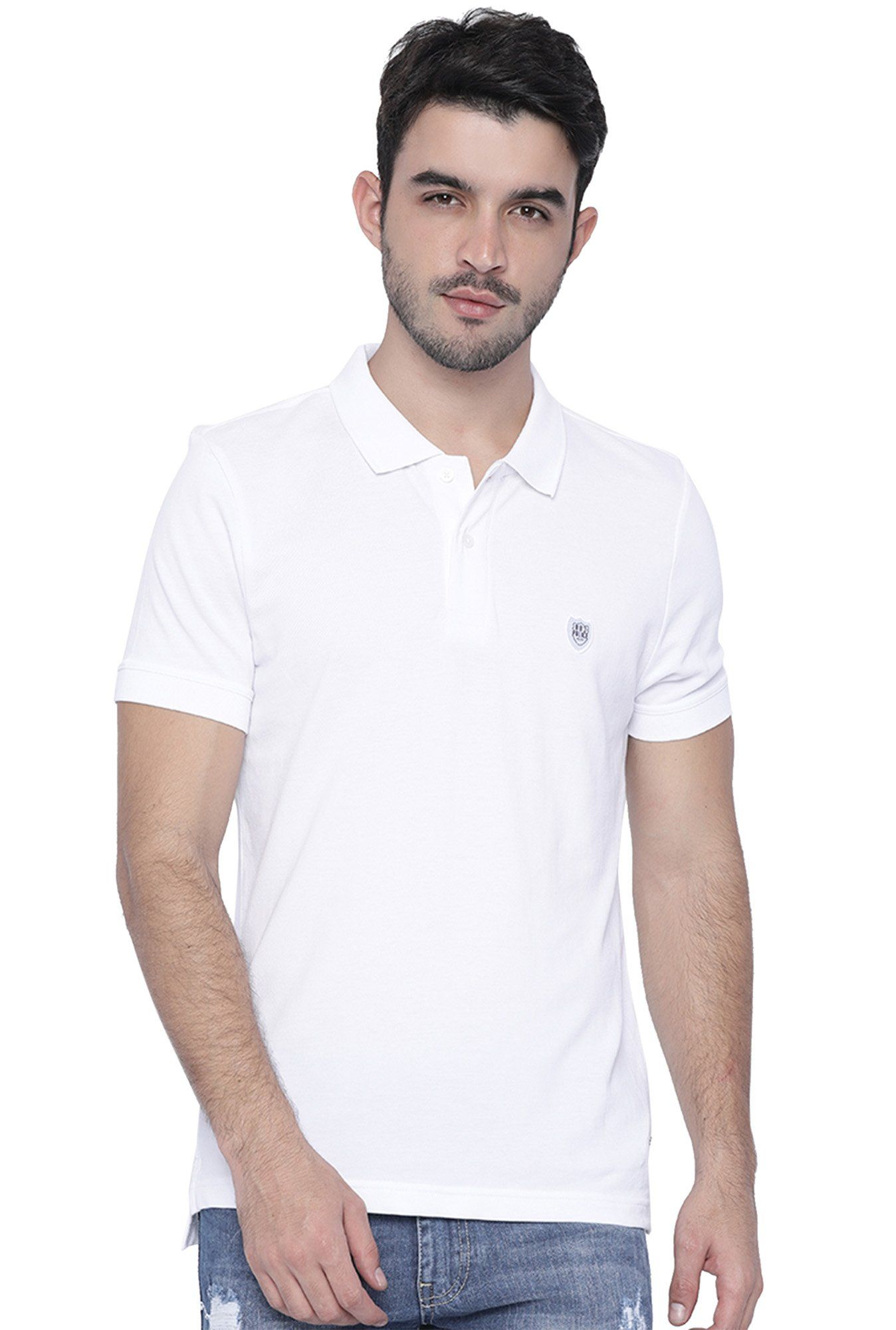 dcfa81792 883 Police White Half Sleeves Slim Fit Cotton T-Shirt -