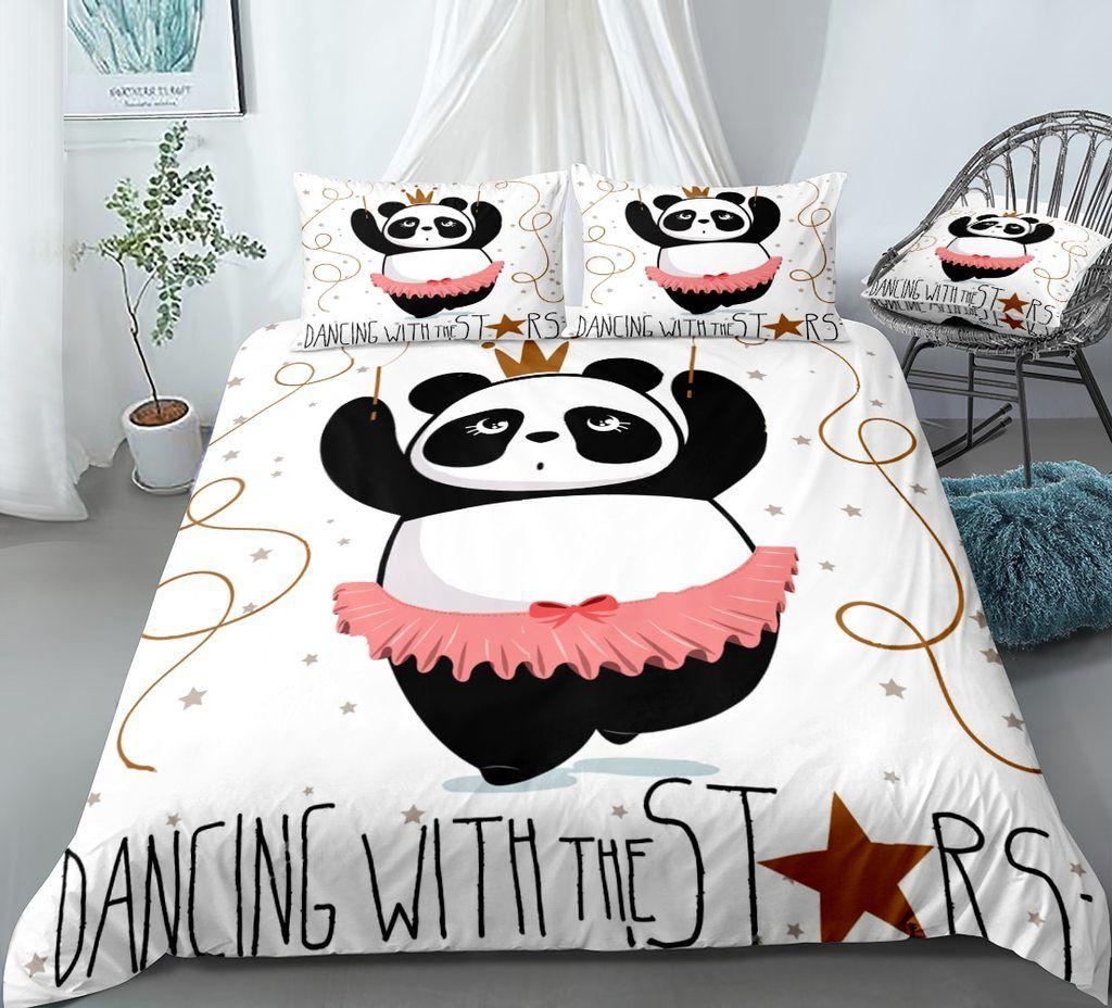Funny Panda Bedding Set In 2020 Bedding Set Unique Duvet Quilt Comforter