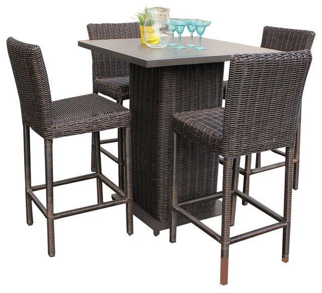 Bistro Table Set White Aluminum Outdoor Bistro Table Set 400 x 300