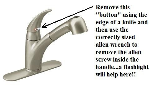 Remove Handle Moen Kitchen Faucet Repair Moen Faucet Drips Years