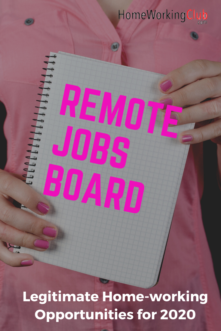 The Homeworkingclub Remote Job Board Work From Home Jobs Online