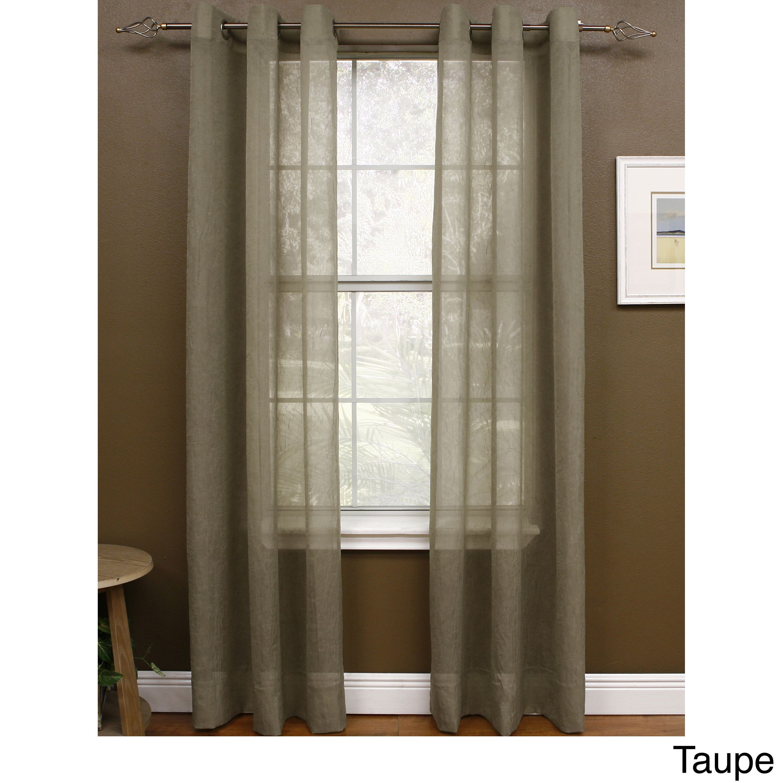 Miller Curtains Preston 84 Inch Grommet Top Sheer Panel 48 X 84 Dijon Polyester Solid Sheer Curtains Curtains Curtains 1 Panel
