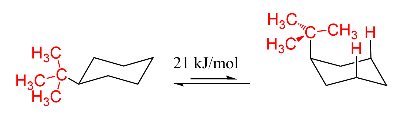 T Butyl Cycohexane 1 3 Diaxial Interactions Interactive Calculus Methyl Group
