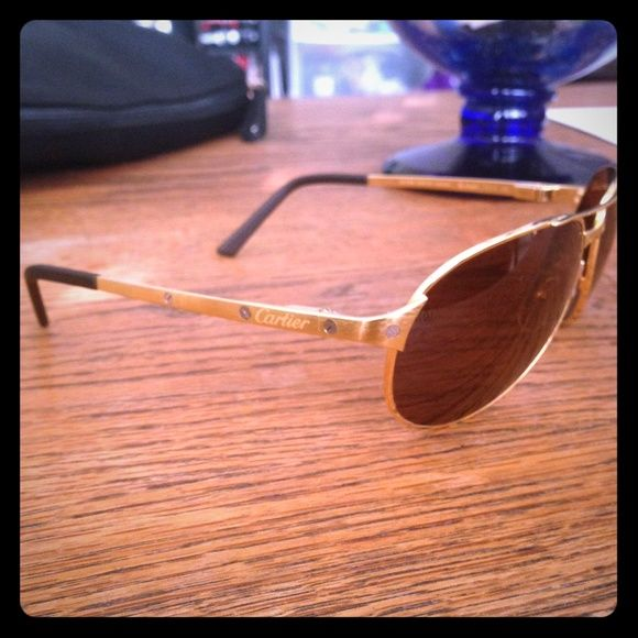 05f0fbf249 Santos-Dumont Edition Cartier Sunglasses Pre Owned Cartier glasses great  condition Santos-Dumont Edition. No Case. Not a set price so please feel  free to ...