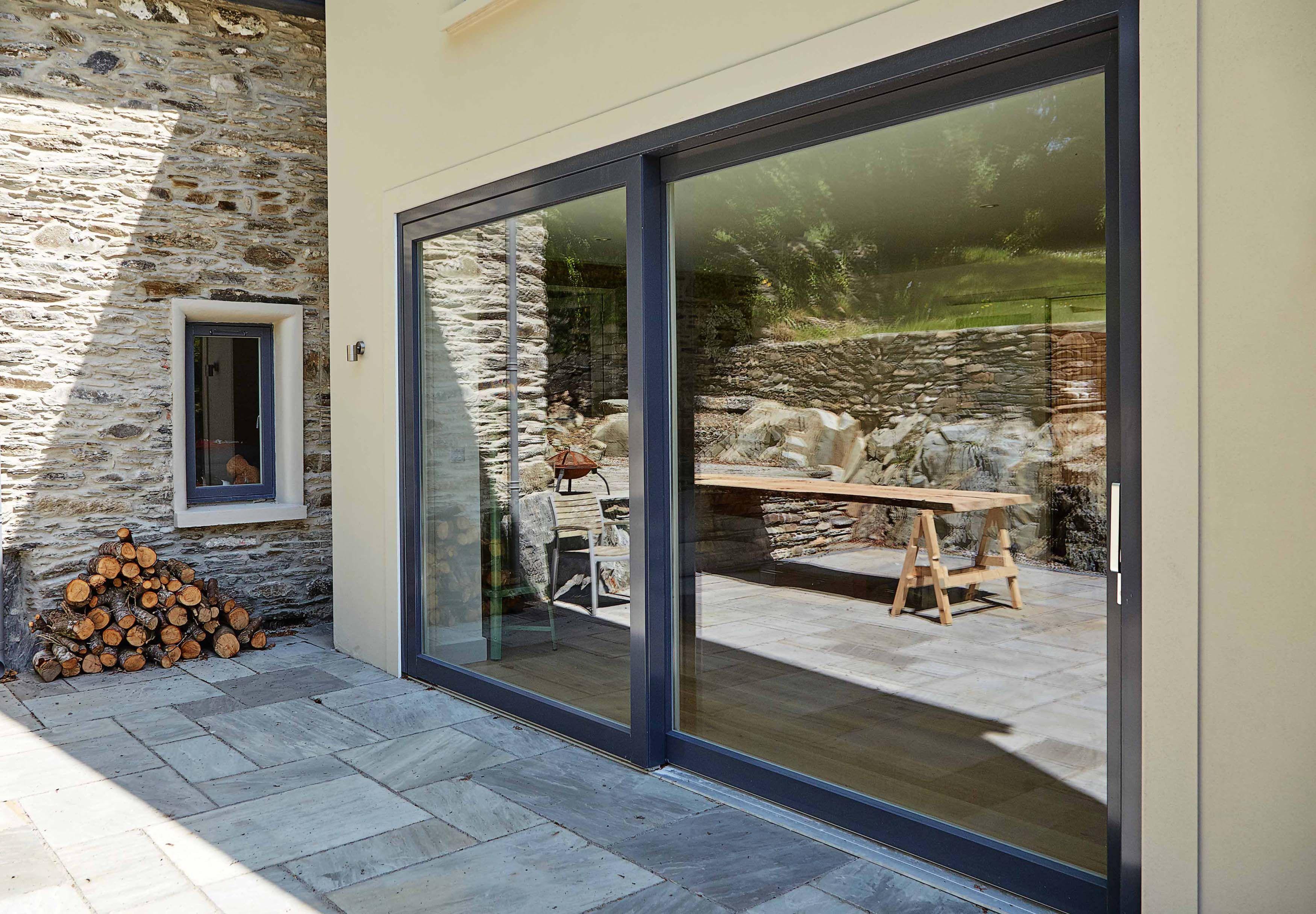 Lift Slide Door And Tilt Turn Window Windows Open Plan Kitchen Living Room Upvc Windows
