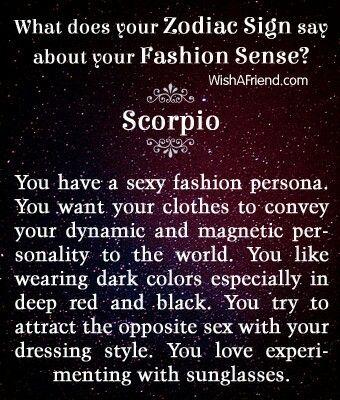 Fashion Zodiac Zodiac Signs Scorpio Myers Briggs Personalities