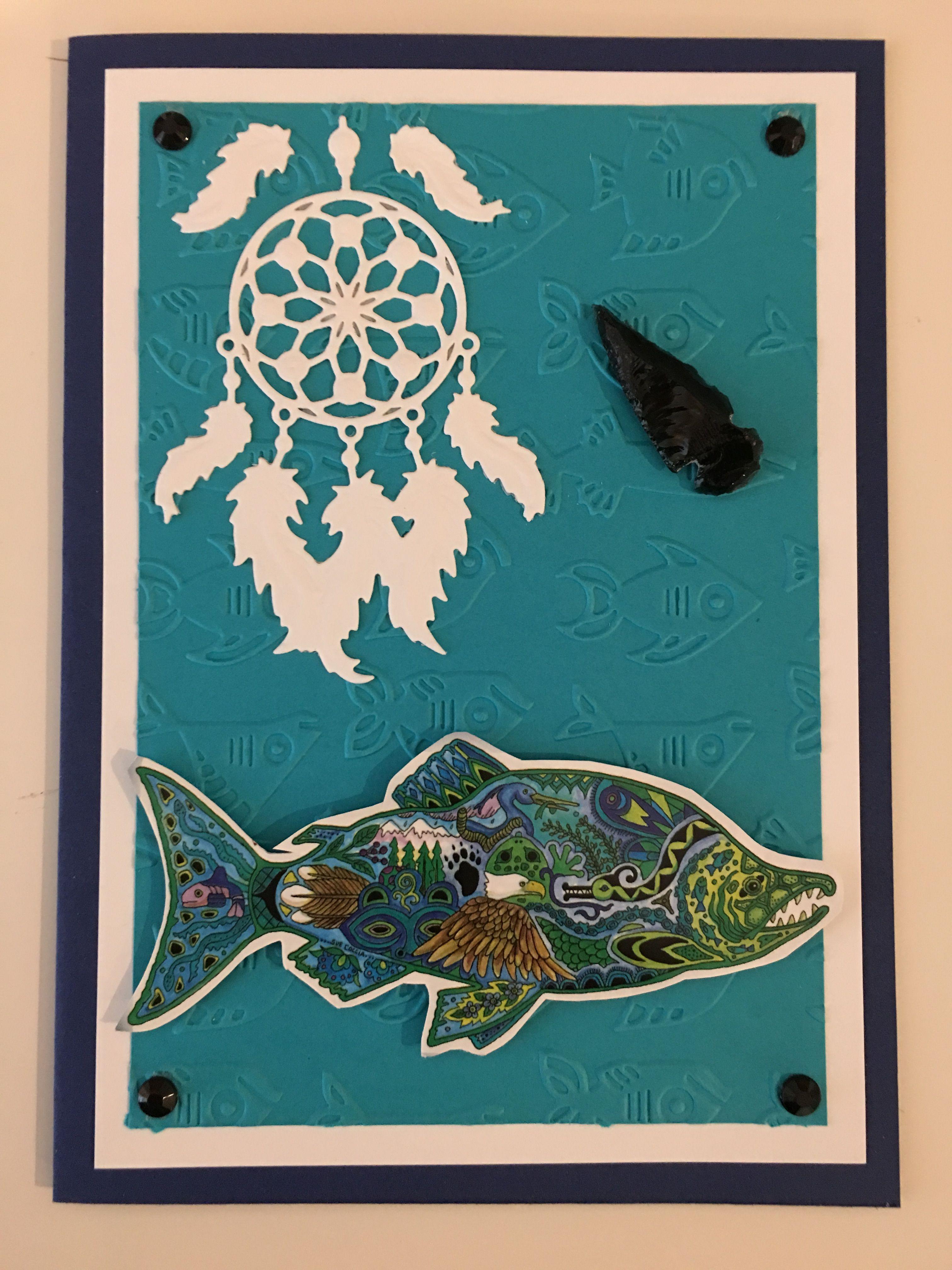 Cby Handmade Native American Greeting Card Native American