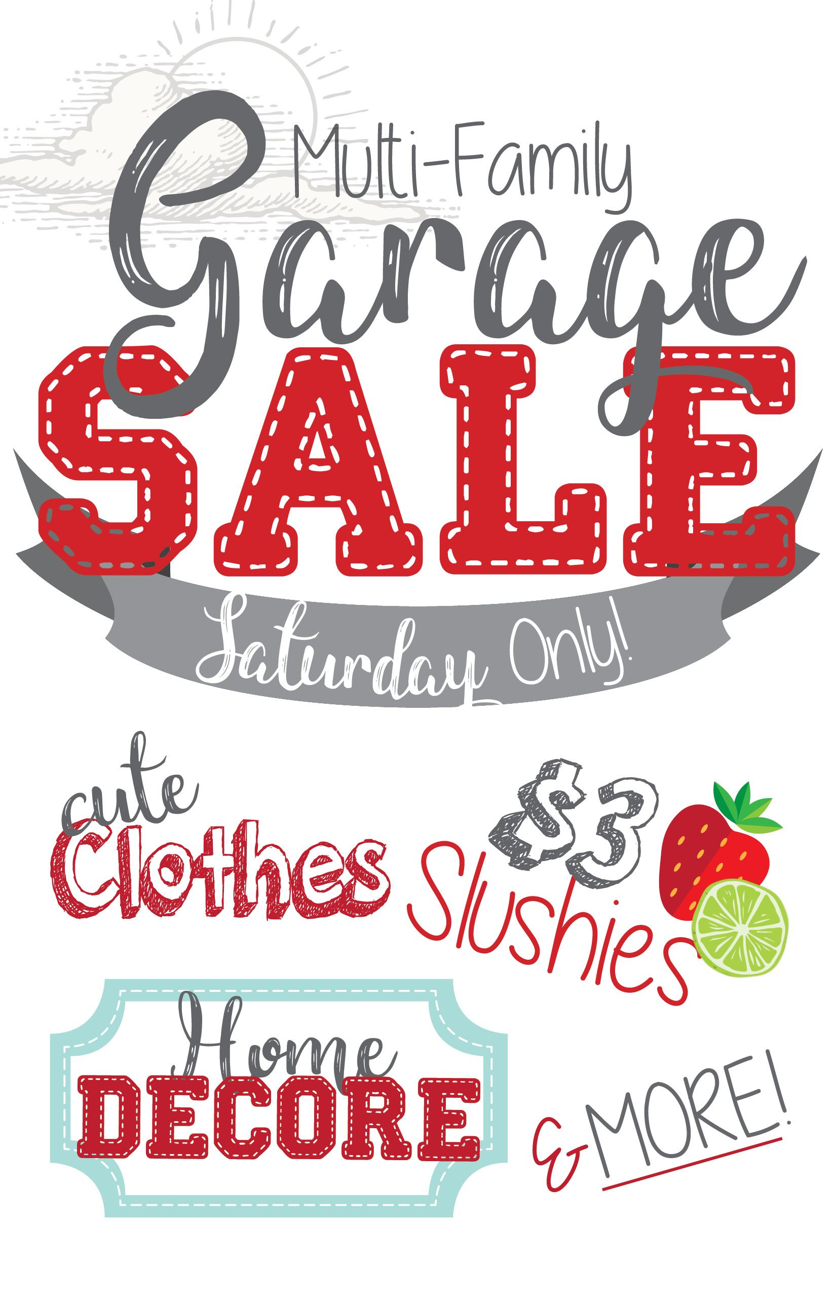 small resolution of garage yard rummage sale sign multi family