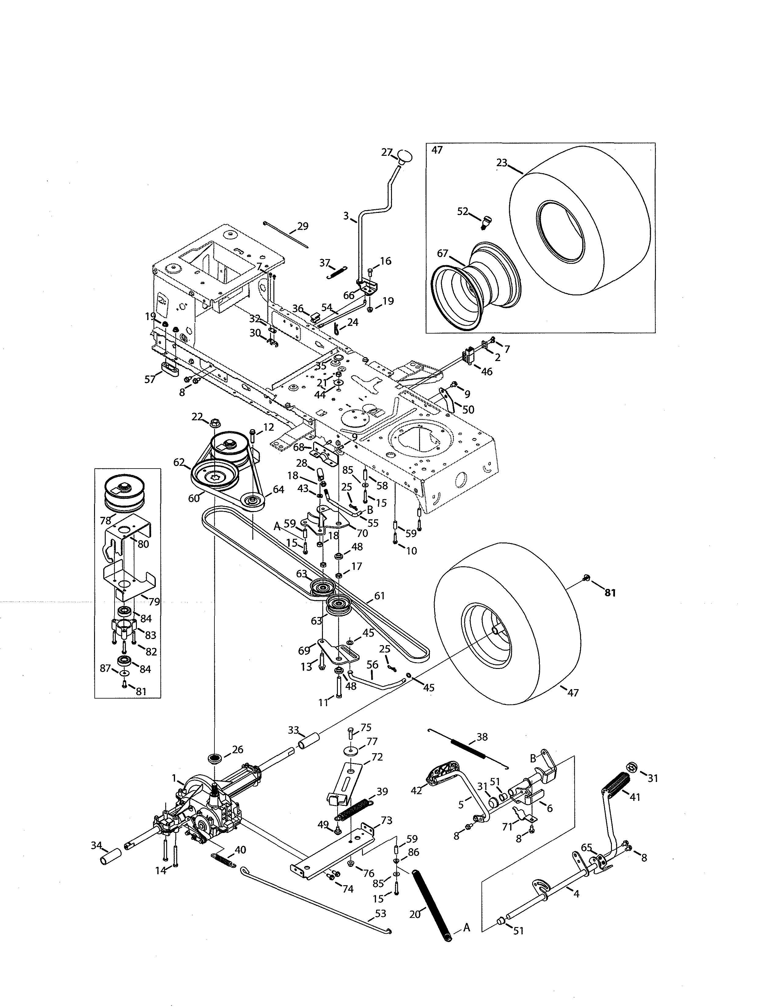 Craftsman 247273430 Transmission Diagram Lawn Tractor Craftsman