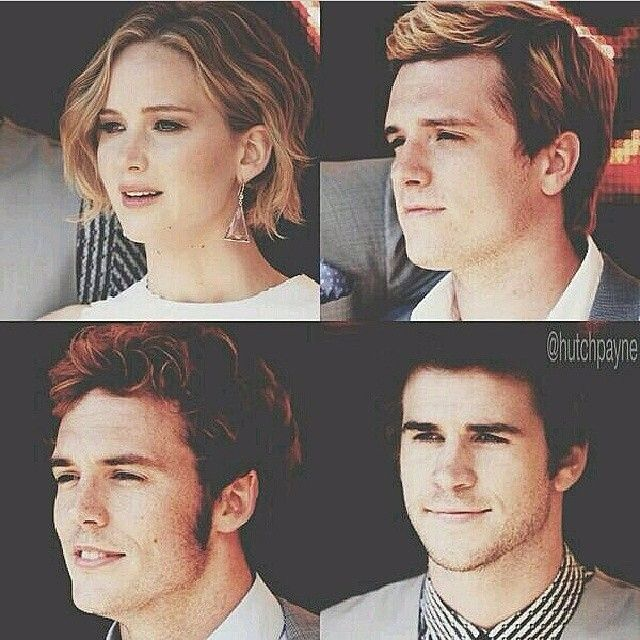 Josh Hutcherson, Jennifer Lawrence, Sam Clafflin, and Liam Hemsworth