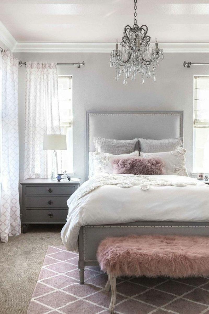Grau Rosa Schlafzimmer Farben Ideen Grey Bedroom Decor Small