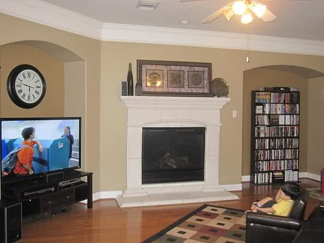 Living Room Paint Ideas With Fireplace painting is done! pip | valspar, coffee and living rooms