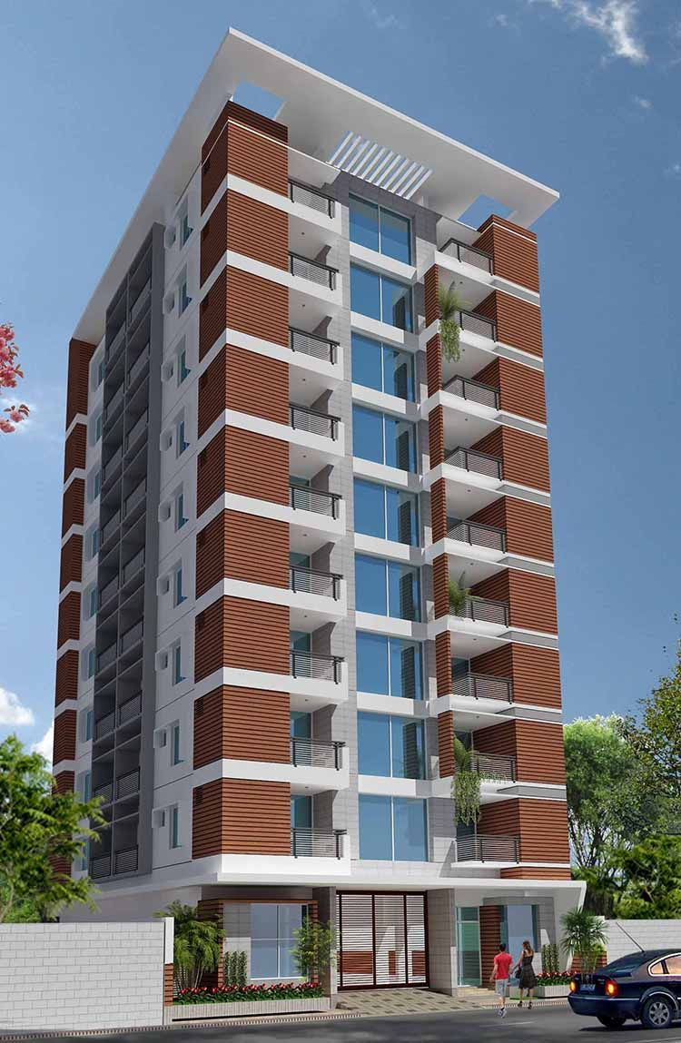 10 Storied Residential Building 3d View Residential Building Design Architecture Building Design Architect Design House