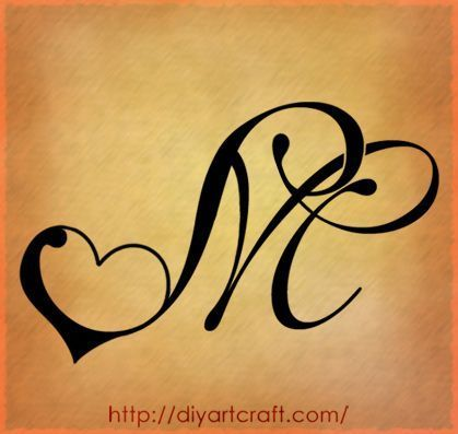 Letter M Heart Tattoo Tattoos