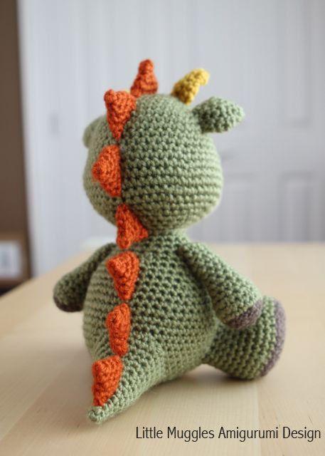 Amigurumi Crochet Pattern - Spike the Dragon | Pinterest | Amigurumi ...