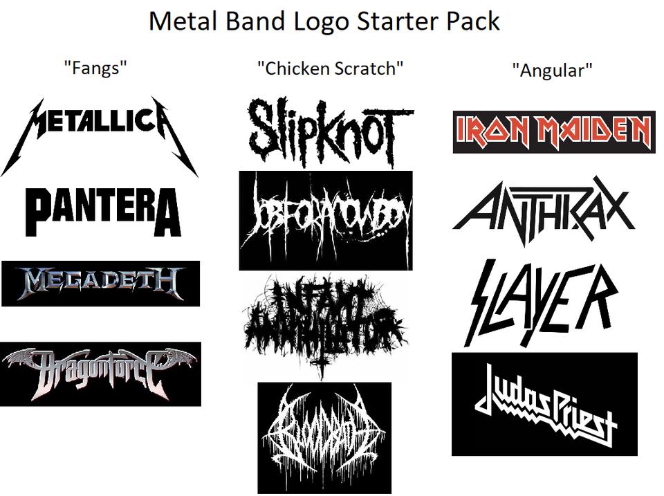 Metal Band Logo Starter Pack Starterpacks Metal Band Logos Metal Bands Band Logos