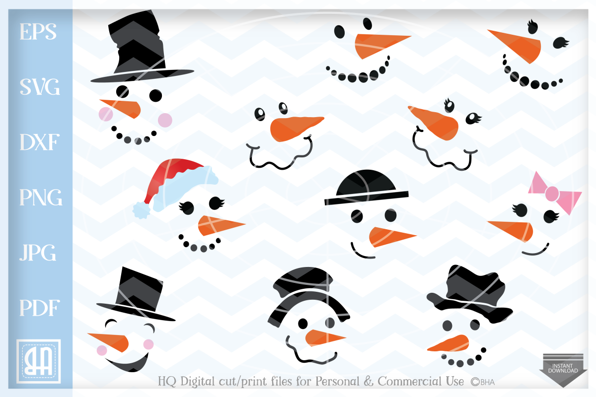 Download Snowman Bell Paper Cut Svg / Dxf / Eps Files Image