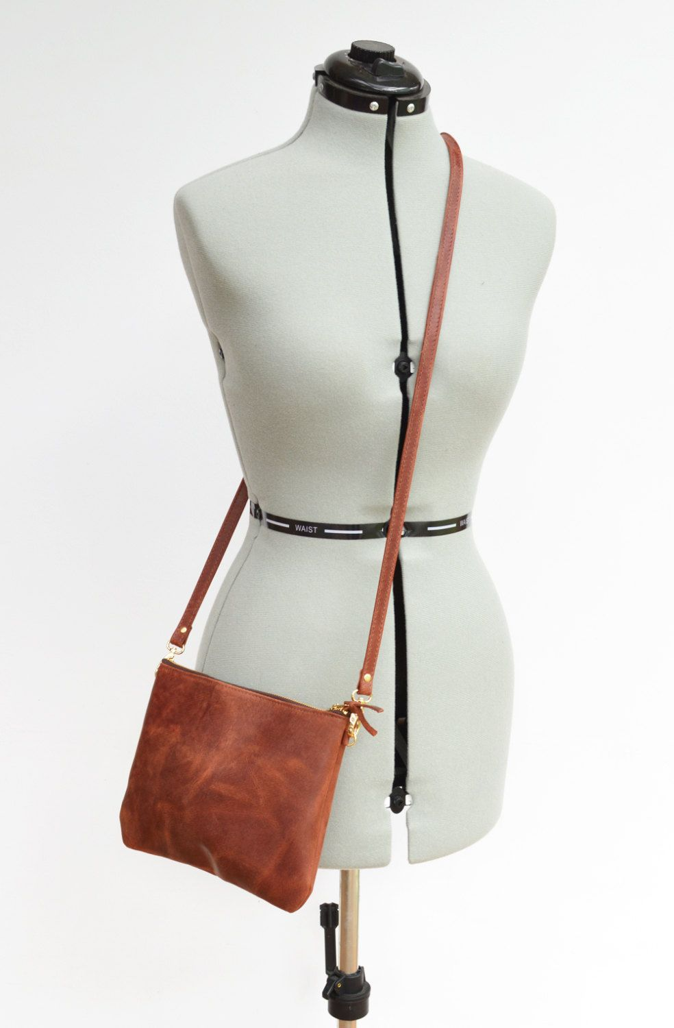 1c580239ff2 Small Leather Crossbody Bag. Minimalist Leather Purse Converts to ...