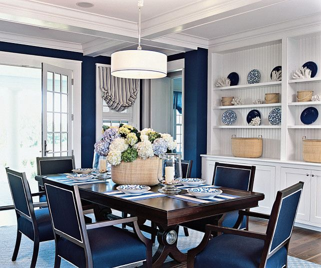 Dining Room Blue White Coastal Dining Room Diningroom