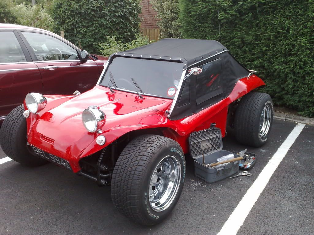 red buggy with new roof photo redbuggyroof.jpg Dune